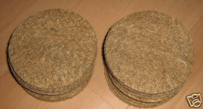 12 x CANARY JUTE NEST PAN QUALITY FELTS