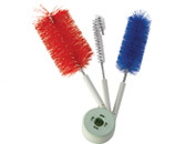 SET OF 3 BRUSHES FOR CLEANING BIRD DRINKERS / BOTTLES
