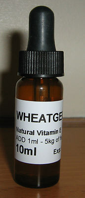 WHEAT GERM OIL 10ml - WHEATGERM - Natural Vitamin E Oil - HELPS BIRDS CONDITION - ON SEED